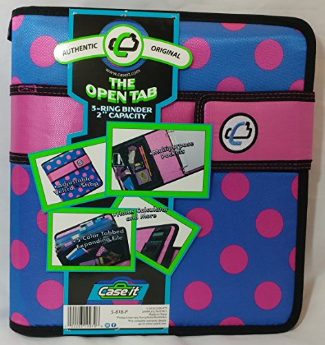 Case-it with Velcro Closure, 3-Ring Binder, 2