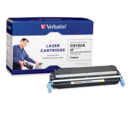 Verbatim Laser Toner Cartridge Replacement for HP C9730A - Compatible with LaserJet 5500 / 5550 Series - Yellow