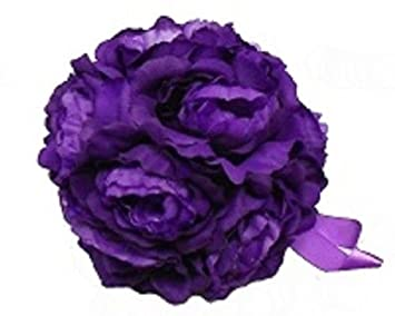 Amazon Ben Collection 6 In Peony Kissing Ball Purple Peonies