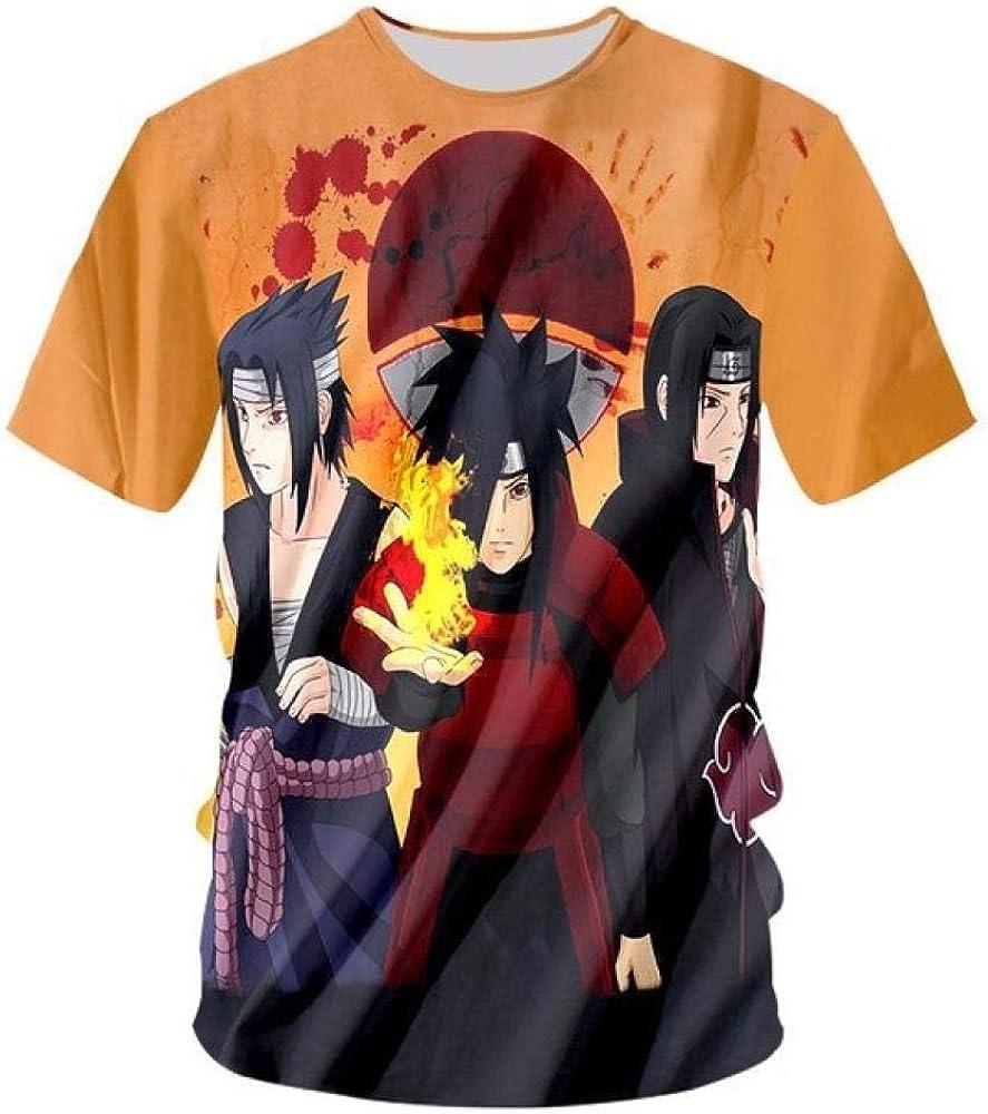 TSHIMEN Camisetas Hombre One Piece Naruto Anime Naruto Tshirt Hombres Impresión en 3D Camisetas Street Wear Camisetas de Verano Tops Tamaño S-3XL Naranja s: Amazon.es: Ropa y accesorios
