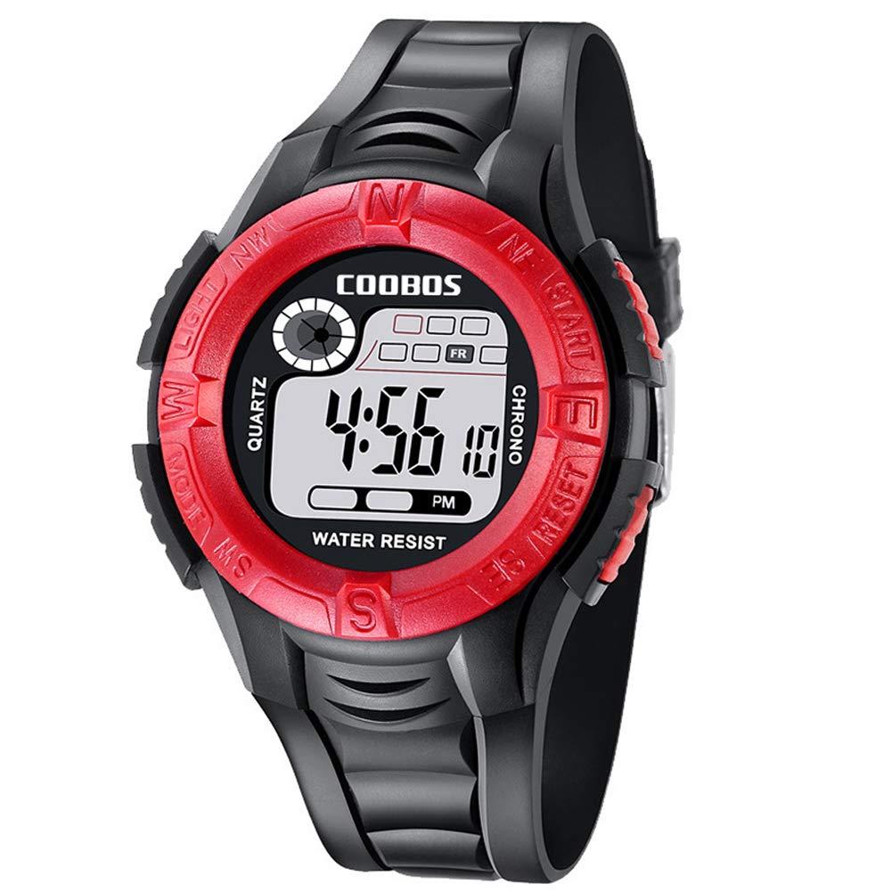 Reloj Deportivo para Hombre, Resistente al Agua, LED, con números Grandes, para Adolescentes, con Alarma para niños como Regalo