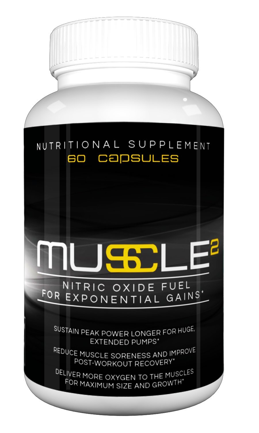 MUSCLE SQUARED - Premium Nitric Oxide Booster with L-Arginine for Exponential Muscle Gain