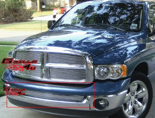 APS D65375A Polished Aluminum Billet Grille Bolt Over for select Dodge Ram 1500 ()