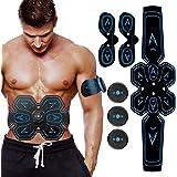 ZHENROG Elettrostimolatore Muscolare, EMS Suscolo Addominale, Addominali Attrezzi ABS, Addome/Braccio/Gambe/Waist/Glutei Massaggi-Attrezzi, USB Ricaricabile-Uomo/Donna