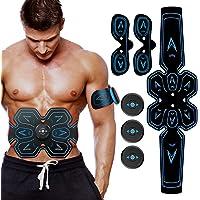 Electrostimulateur Musculaire : EMS - Ceinture abdominale, bras et jambes Massage - Pour un corps sculpté, une silhouette aux lignes parfaites - Idéal pour les hommes et les femmes