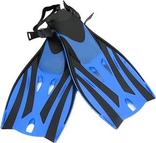 Palmes de plongée Ailerons de plongée de palmes de plongée avec tuba pour la natation de natation d'activité aquatique de plongée en apnée Palmes de plongée en apnée ( Couleur : Jaune , Taille : M )