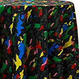 Ultimate Textile Camo Animal 108 x 156-Inch Oval Printed Tablecloth