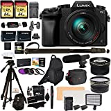 Panasonic DMC-G7HK Digital Single Lens Mirrorless Camera 14-140 mm Lens Kit, 4K + Accessory Bundle + 2 Transcend 64 GB High Speed 10 UHS-3 + LED Kit + Polaroid 72 Tripod + Monopod + Microphone + More