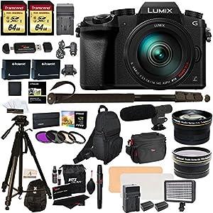 Panasonic DMC-G7HK Digital Single Lens Mirrorless Camera 14-140 mm Lens Kit, 4K + Accessory Bundle + 2 Transcend 64 GB…