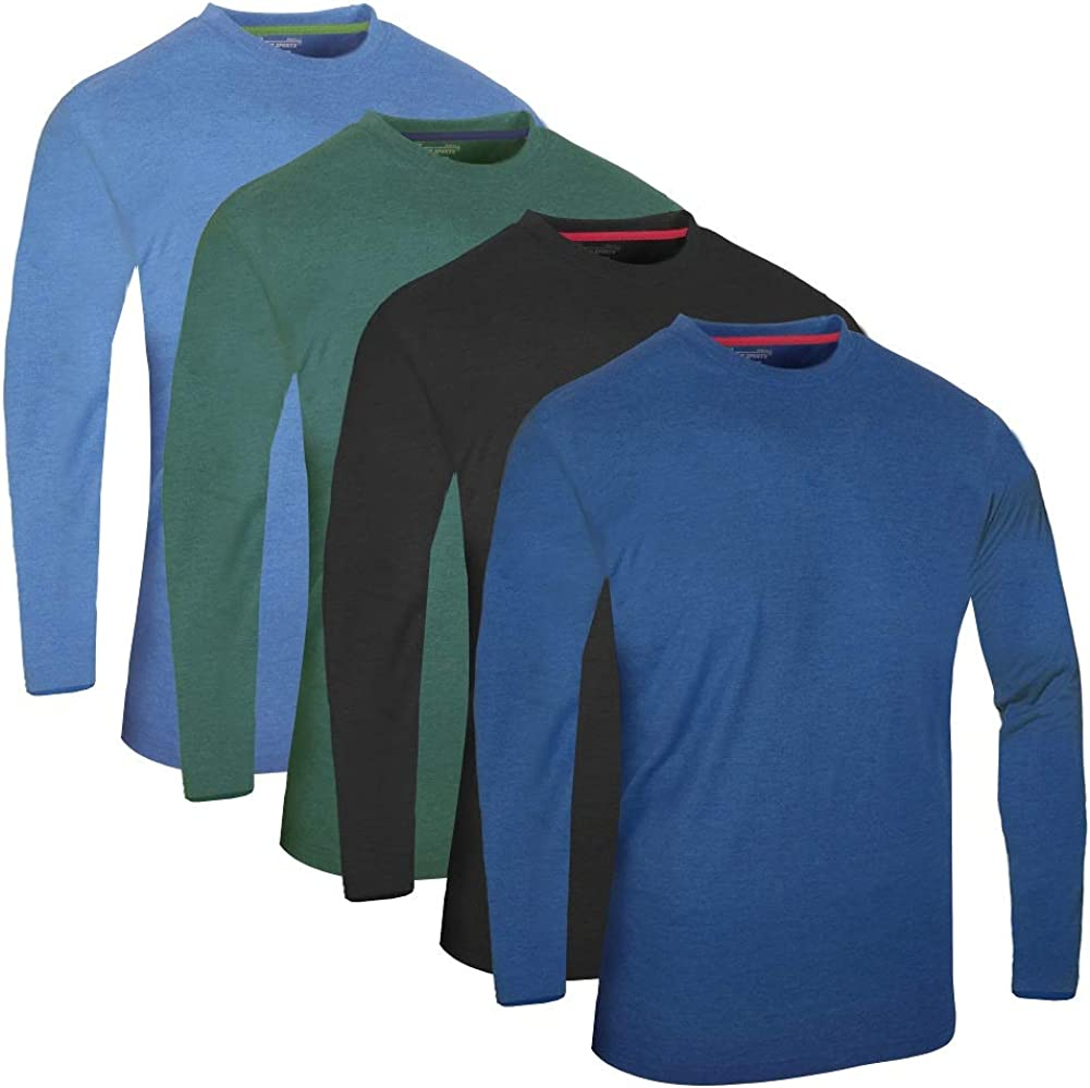 Kurzarm Casual Top Multi Pack Rundhals Camisetas FULL TIME SPORTS/® 3 4 6 Paquete Assorted Langarm-