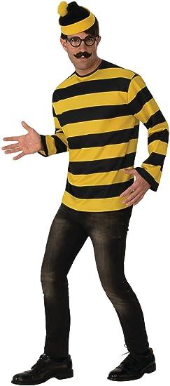 b454fd123d Amazon.com: Men's Where's Waldo Odlaw Evil Villain Costume Large 46 ...