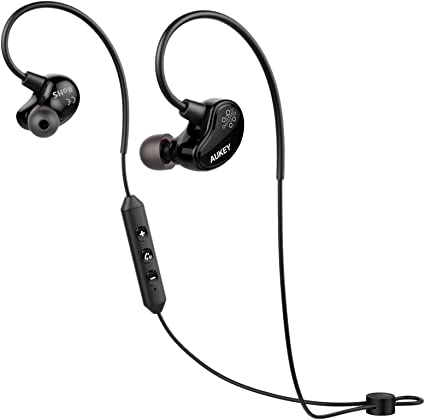 AUKEY Cuffie Sportive Bluetooth 4.1 Headset aptX Auricolari Wireless Stereo con Microfono per iPhone, Samsung, iPad ed altri Smartphone (EP B29)