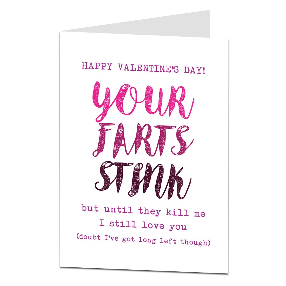 Funny Valentines Card for Husband Boyfriend Maybe Girlfriend Or Wife?! -  Your Farts Stink!