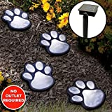 LED Solar Lights Garden Paw Animal Prints Outdoor Lamp Lantern Path Landscape For Sale