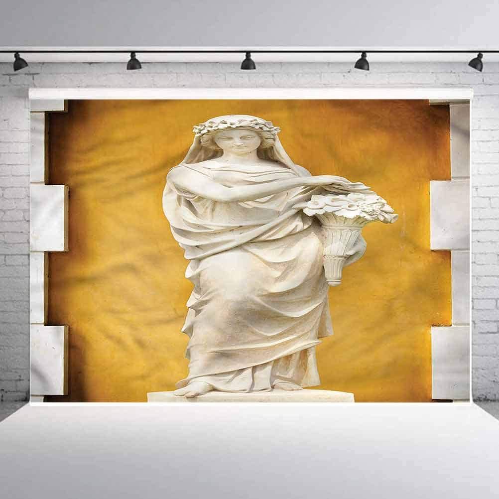 8x8FT Vinyl Wall Photography Backdrop,Sculptures,Greece and Rome Culture Background for Baby Birthday Party Wedding Graduation Home Decoration