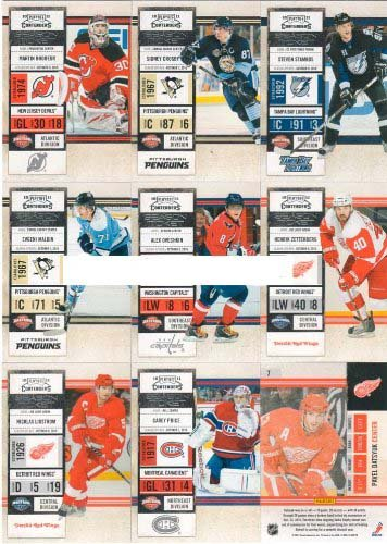 2010 / 2011 Panini Playoff Contenders Hockey Series Complete Mint Basic Hand Collated Veteran Players 100 Card Set Including Sidney Crosby, Carey Price, Evgeni Malkin, Alexander Ovechkin, Steven Stamkos and Others! ()