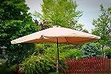 Rectangle Outdoor Patio Market Umbrella - Tan