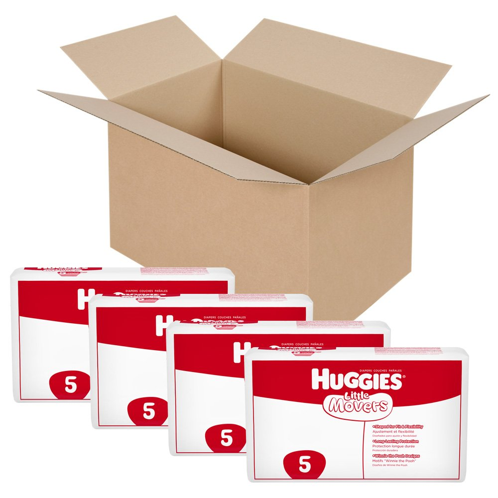 Huggies Little Movers Diapers, Ebulk, Size 5, 168 Count (packaging may vary)