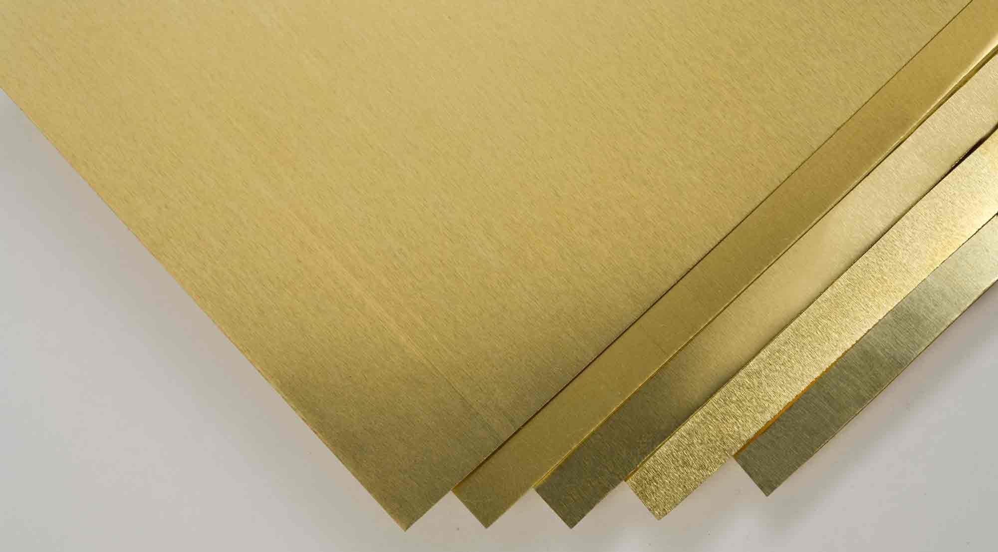 Shim Stock Assortment-Brass (5) by Goodson