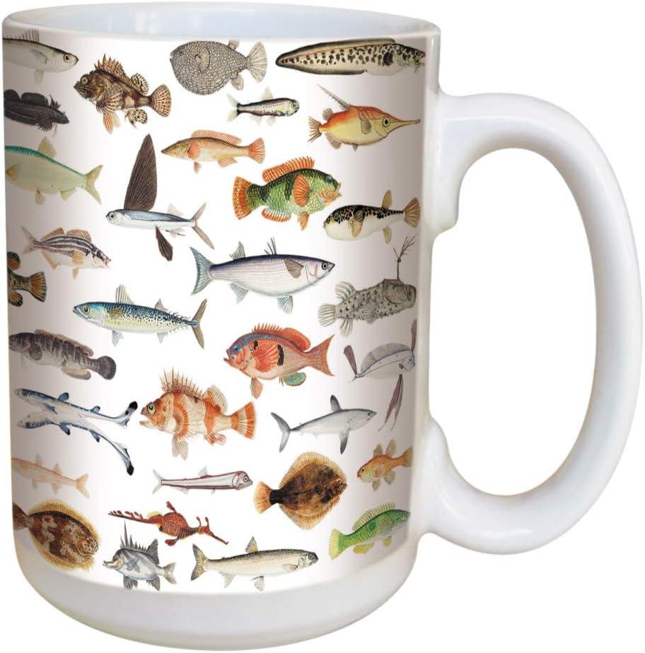 Fish Coffee Mug Large 15 Ounce Ceramic Mug