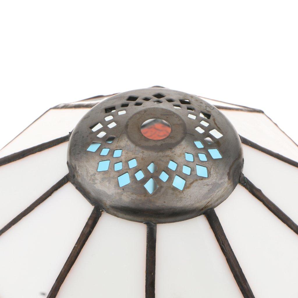 MagiDeal Pantalla de L/ámpara Techo Colgante Portal/ámpara de E27 Decoraci/ón Iluminaci/ón Accesorios Elegante C/ómodo Azul Claro 20cm Blanco