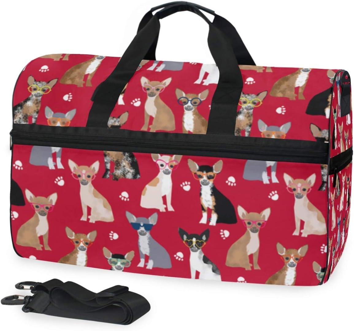 Lightweight Large Capacity Portable Luggage Bag Cloud Animal Deer Travel Duffel Bag Backpack