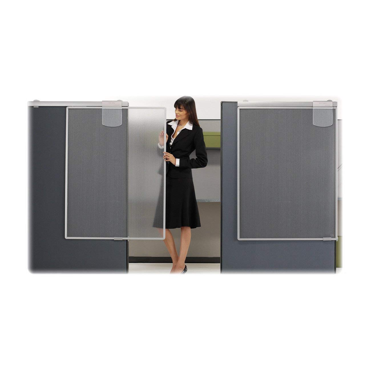 Quartet Workstation Privacy Screen, 36 x 48 Inches, Sliding, Partial Length (WPS1000) (Renewed)