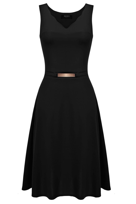 Zeagoo Damen V-Ausschnitt Feierliche Kleider Etuikleid A-Linie Kleid ...