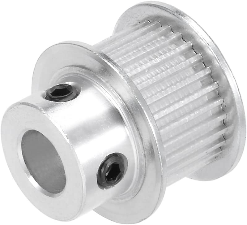 uxcell Aluminum Timing Pulley MXL 30 Teeth 8mm Bore Timing Belt Pulley Synchronous Wheel for 10mm Belt