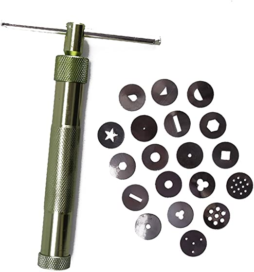 New Stainless Steel Sugar Paste Extruder For Fondant Craft Cake Decor Tool