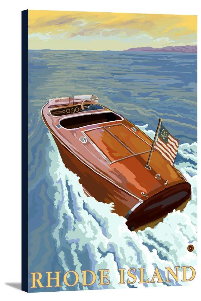 クリスクラフトボート – Rhode Island 24 x 36 Gallery Canvas LANT-3P-SC-20375-24x36 24 x 36 Gallery Canvas  B0184AEYNQ