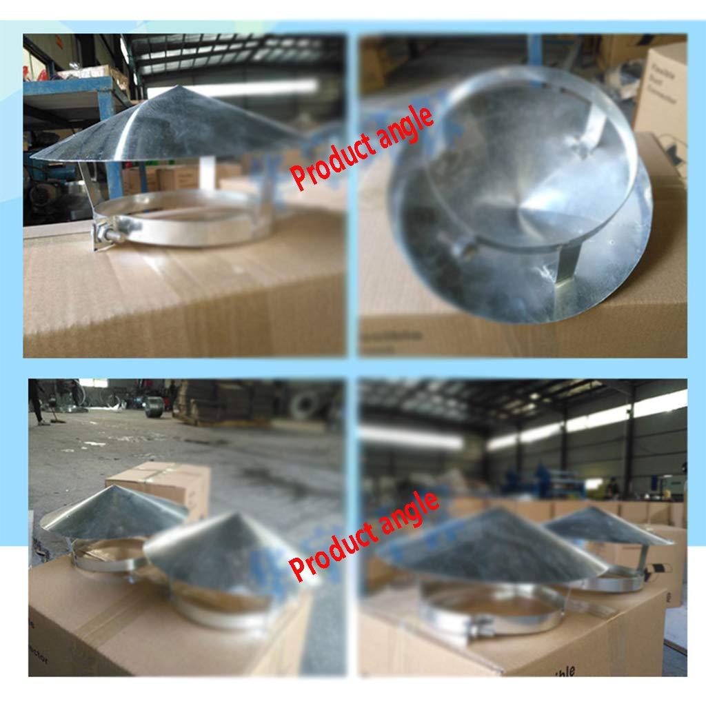LXLTL Chapeau De Chemin/ée Pare Pluie INOX Chapeau de Protection Contre La Pluie Et La Neige Base Arrondie Installation Facile,75mm