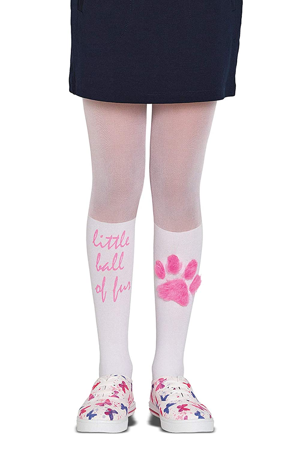 Penti Pretty Fur 30 Den Girls Footed Tights