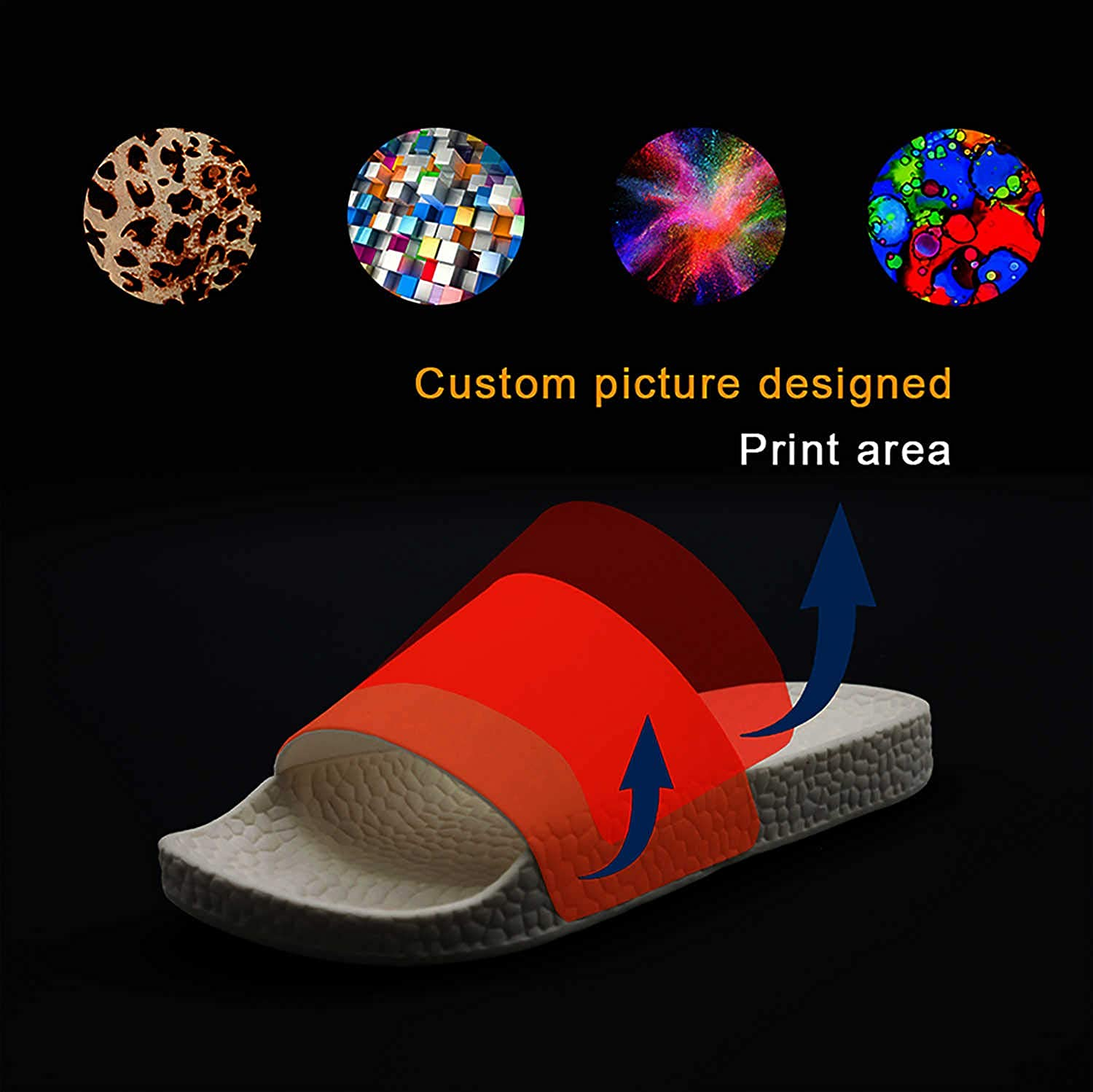 Printed Non-slip slippers slides flip flop sandals Toyota-logo-symbol-emblem-summer Casual for mens