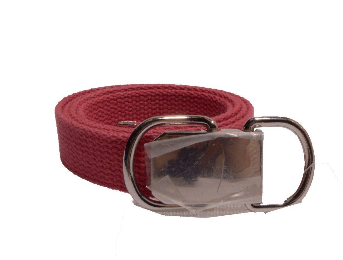 Nine West Women's 1 Inch Cotton Web Belt in Pink Size Medium