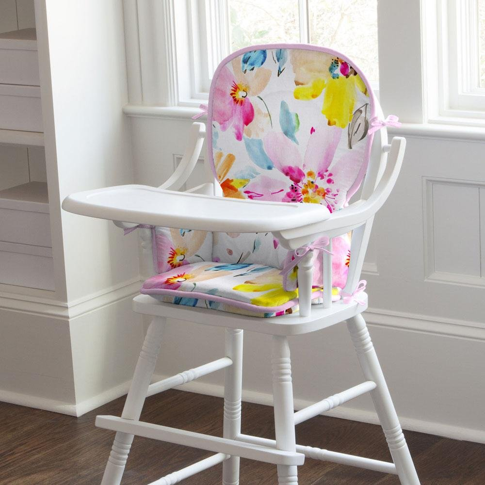 Carousel Designs Watercolor Floral High Chair Pad