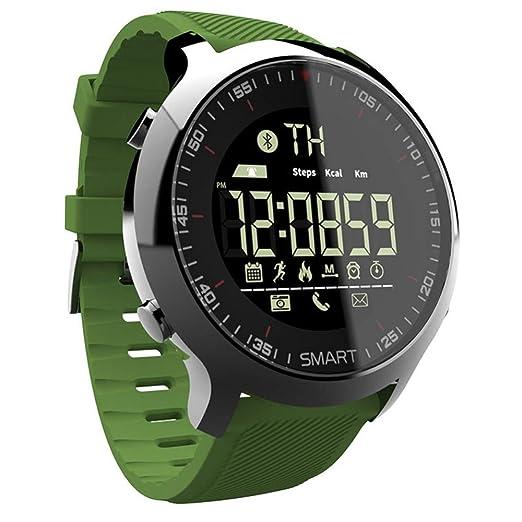 ZXRSH Smart Watch Green Sport podómetros a Prueba de Agua ...