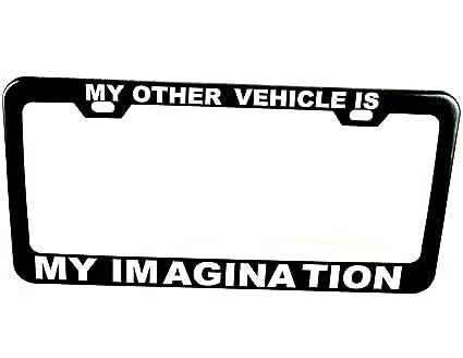 Amazon.com: GP Personalized License Plate Frames Black Customized ...