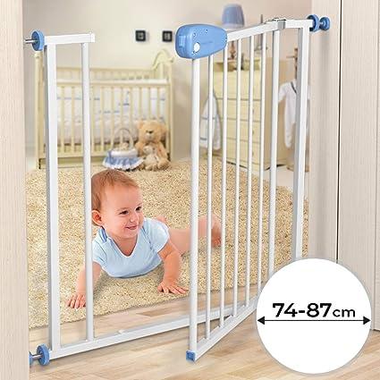 Barrera de seguridad para niños - Ajustable entre aprox. 74-87 cm ...