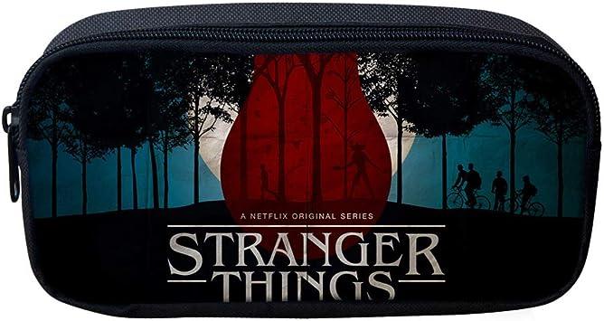 Stranger Things Estuche de Lápices Caja de lápices de múltiples Capas del Anime Caja de lápices Carrete Bolsa de Almacenamiento Linda Caja de lápices de Estudiantes Masculinos y Femeninos: Amazon.es: Equipaje