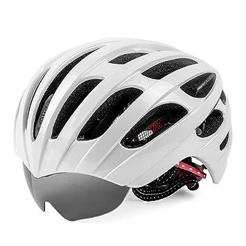 GXYGWJ Casco De Bicicleta De Montaña. Gafas Incorporadas Retráctiles. Casco De Conducción Integrado.
