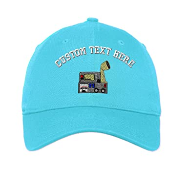 3d7abe56519df Custom Ham Radio Communication Embroidery Unisex Adult Flat Solid Buckle  Cotton 6 Panel Unstructured Baseball Hat