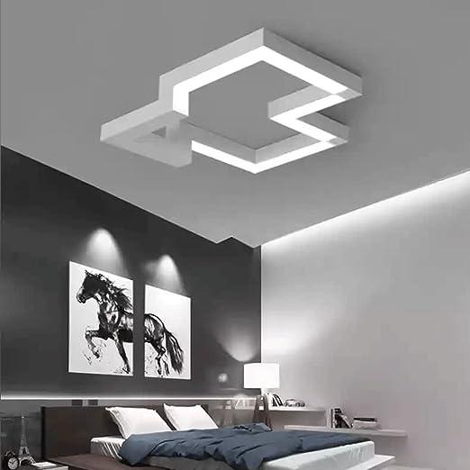 Lampadario Design Camera Da Letto.30w Led Plafoniera Moderno Acrilico Bianca Pendente Lampadario