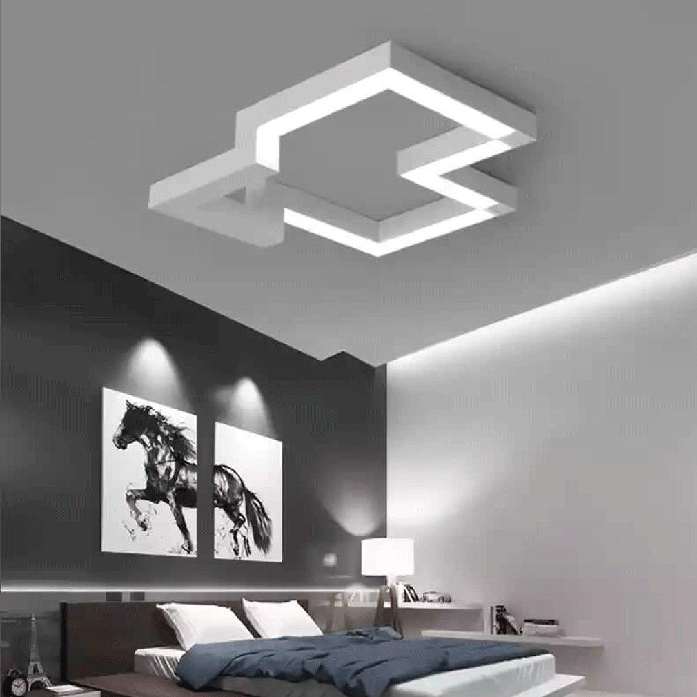 30W LED Lámpara de Techo Moderno Estilo Acrílico Blanco Colgante Candelabro Elegante Diseño Multa Cuadrado Lámpara de Techo Cuarto Sala Comedor Sencillo ...