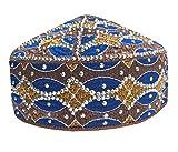NDA Eid Special Kufi Muslim Hand Made Stone Cap Men's Koofi Pakistani Topi Hat (MC-41)