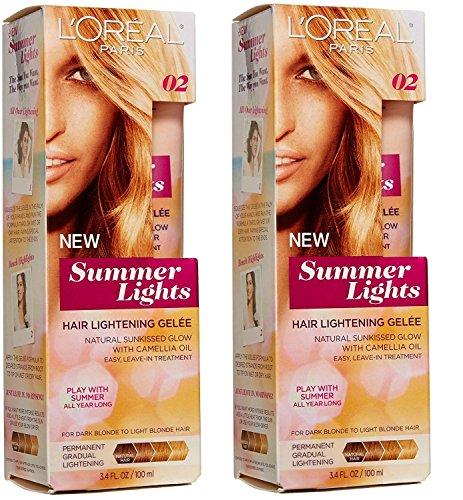 L'Oreal Paris Summer Lights Lightening Gelee Kit, From Dark Blonde to Light Blonde Hair [02] 3.4 oz (Pack of 2)