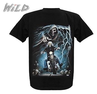 T Shirt Glow In The Dark Wild Collection Schwarz Mit Motiv