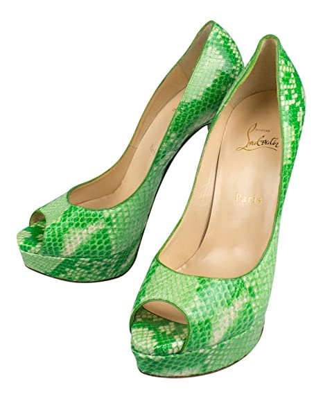 Christian Louboutin Lady Peep Green Python 15 e9614459af2
