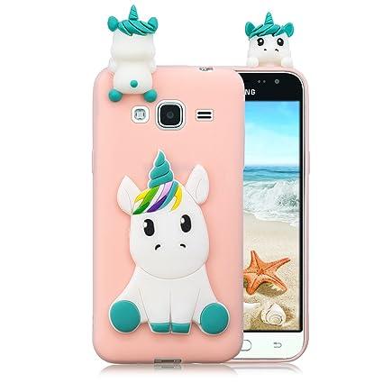 Leton Funda Samsung Galaxy j3 Silicona Unicornio 3D Suave ...