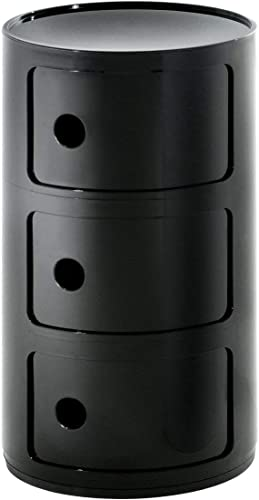 Kartell Componibili Plastic Stackable Round Triple Drawers